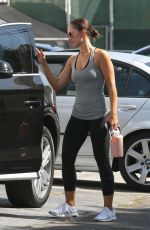 MINKA KELLY Leaves a Gym in Beverly HIlls 10/09/2017