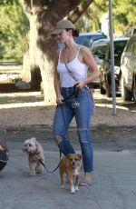 MINKA KELLY Take Her Dogs to Pet Care in West Hollywood 10/17/2017