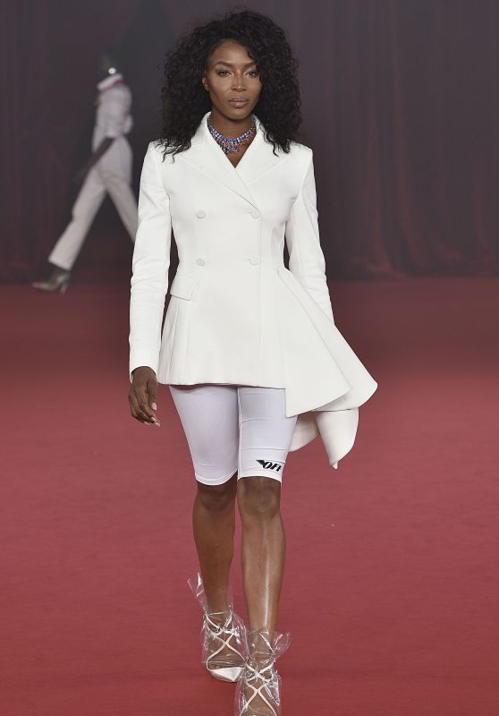 NAOMI CAMPBELL at Off-white Fashion Show at Paris Fashion Week 09/28/2017