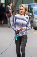 NAOMI WATTS Makeup Free Out in New York 10/15/2017