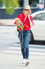 NAOMI WATTS Out with Her Dog in New York 10/07/2017