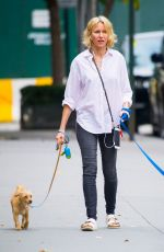NAOMI WATTS Out with Her Dogs in New York 10/15/2017
