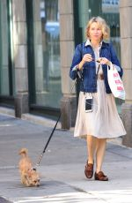 NAOMI WATTS Picks Up After Her Dog in in New York 10/04/2017