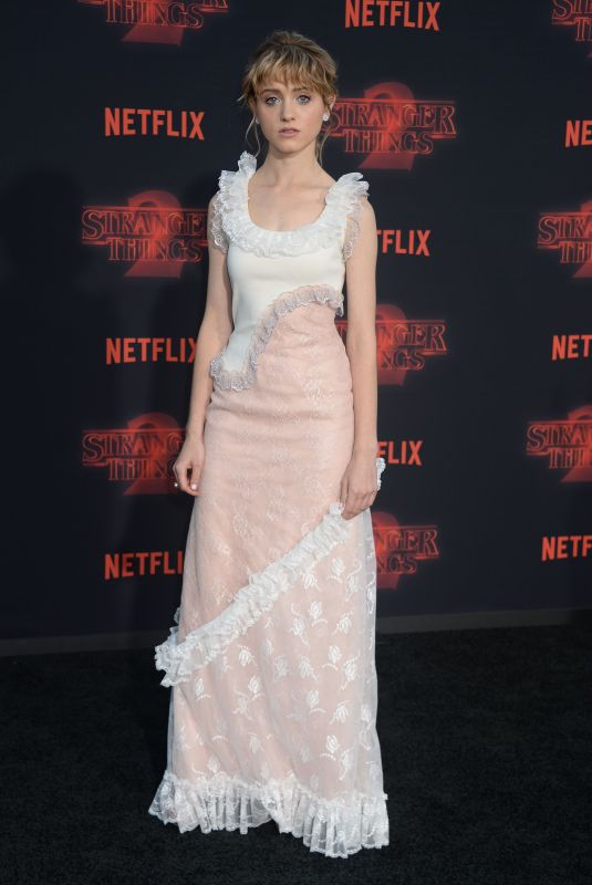 NATALIA DYER at Stranger Things Season 2 Premiere in Los Angeles 10/26/2017