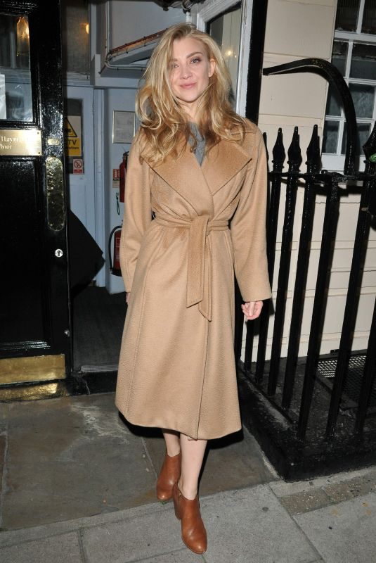 NATALIE DORMER Out and About in London 10/23/2017