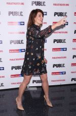NIA VARDALOS at Tiny Beautiful Things Opening Night Party in New York 10/03/2017