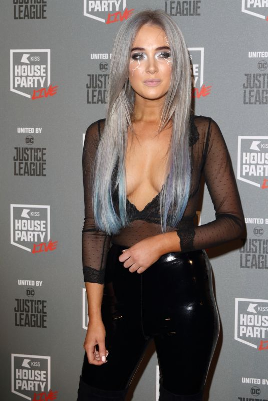 NICOLA HUGHES at Kiss FM's Haunted House Party in London 10/26/2017