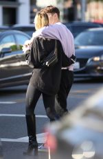 NICOLA PELTZ and Anwar Hadid Out for Pinkberry Yogurt in Beverly Hills10/18/2017