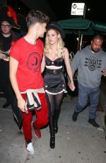 NICOLA PELTZ at Matthew Morrison Halloween Party at Poppy Night Club in Hollywood 10/28/2017