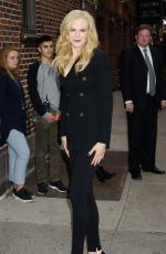 NICOLE KIDMAN Arrives at Late Show with Stephen Colbert in New York 10/23/2017