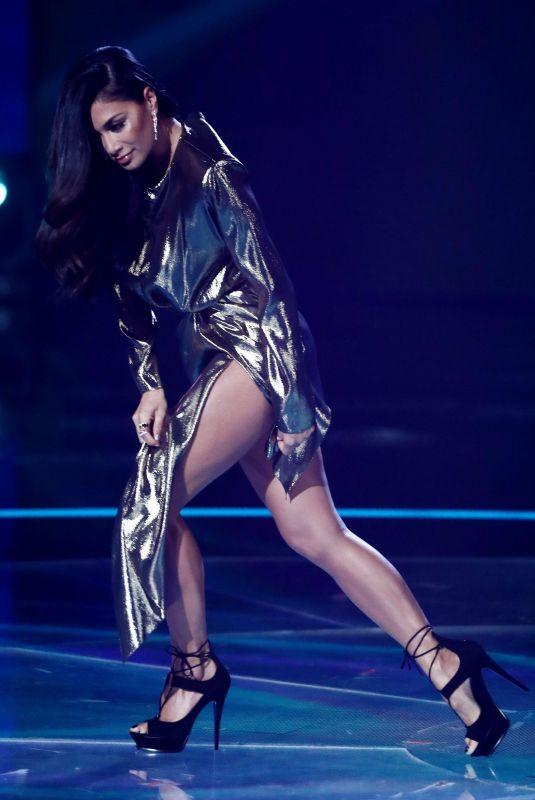 NICOLE SCHERZINGER Performs at X Factor First Live Show 10/28/2017