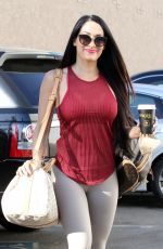 NIKKI BELLA Arrives at DWTS Rehersal in Los Angeles 10/22/2017