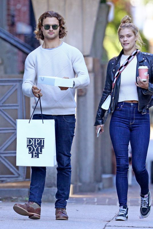 NINA AGDAL and Jack Brinkley-cook Out Shopping in New York 10/17/2017