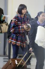 NINA DOBREV at Pearson International Airport in Toronto 10/21/2017