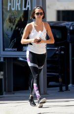 NINA DOBREV Leaves a Gym in Los Angeles 10/06/2017