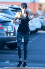 NINA DOBREV Out Shopping After Workout in Los Angeles 10/07/2017