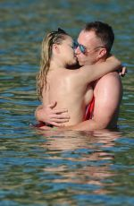 OLA JORDAN in Swimsuit on Vacation in Skiathos 09/05/2017
