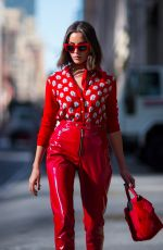 OLIVIA CULPO All in Red Out and About in New York 10/04/2017