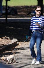 OLIVIA WLIDE Walks Her Dog at a Park in New York 10/03/2017