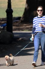 OLIVIA WLIDE Walks Her Dog at a Park in New York 10/03/2017