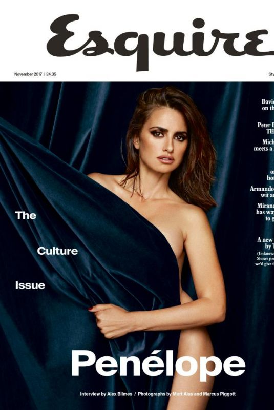 PENELOPE CRUZ in Esquire Magazine, UK November 2017
