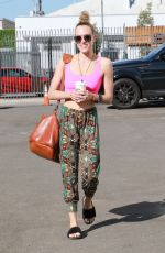 PETA MURGATROYD Arrives at Dancing with the Stars Rehearsals in Los Angeles 10/07/2017