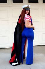 PHOEBE PRICE in a Halloween Costumes Out in Los Angeles 10/15/2017