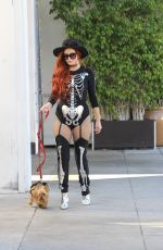 PHOEBE PRICE in Her Halloween Costume Out in Beverly Hills 10/27/2017