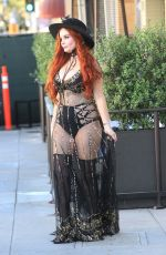 PHOEBE PRICE Out and About in Beverly Hills 10/20/2017