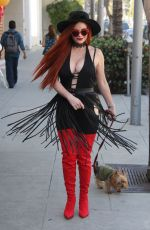 PHOEBE PRICE Out with Her Dog in Beverly Hills 10/11/2017