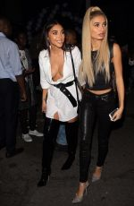 PIA MIA PEREZ and CHATLE JEFFRIES Night Out in West Hollywood 10/23/2017