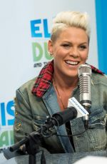 PINK at Elvis Duran Z100 Morning Show in New York 10/10/2017