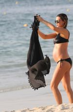 Pregnant ABIGAIL ABBEY CLANCY in Bikini on the Beach at Royal Meridien Hotel in Dubai 10/06/2017