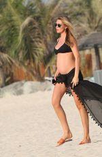 Pregnant ABIGAIL ABBEY CLANCY in Bikini on the Beach in Dubai 10/06/2017