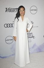 Pregnant ALI WONG at Amfar Inspiration Gala in Los Angeles 10/13/2017