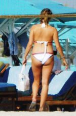 Pregnant CATHY HUMMELS in Bikini and Swimsuit at a Beach in Dubai 10/20/2017
