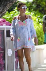 Pregnant COLEEN ROONEY at a Beach in Barbados 10/27/2017