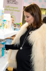 Pregnant FERNE MCCANN at Baby Show in London 10/20/2017
