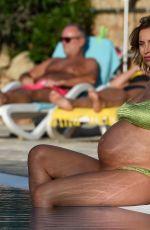 Pregnant FERNE MCCANN in Bikini at a Pool in Majorca 10/09/2017