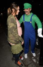 Pregnant JESSICA ALBA and Cash Warren Leaves Poppy Night Club in West Hollywood 10/29/2017