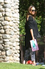 Pregnant JESSICA ALBA at Coldwater Canyon Park in Beverly Hills 10/01/2017