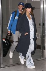 Pregnant JESSICA ALBA at JFK Airport in New York 10/23/2017
