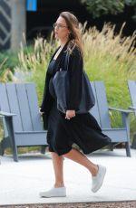 Pregnant JESSICA ALBA Heading to a Meeting in Santa Monica 10/03/2017