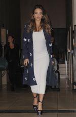 Pregnant JESSICA ALBA Leaves Her Hotel in New York 10/25/2017