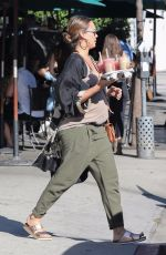 Pregnant JESSICA ALBA Leaves Urth Caffe in West Hollywood 10/07/2017