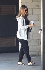Pregnant JESSICA ALBA Out in West Hollywood 09/30/2017