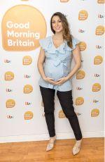 Pregnant LUISA ZISSMAN at Good Morning Britain in London 10/10/2017