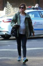 Pregnant ROSE BYRNE Out with Friend in New York 10/18/2017