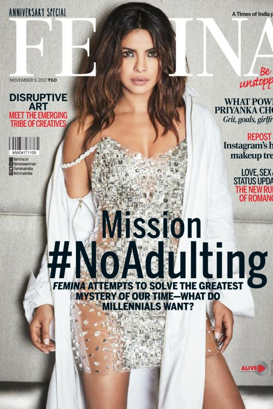 PRIYANKA CHOPRA in Femina Magazine, India October 2017 Issue