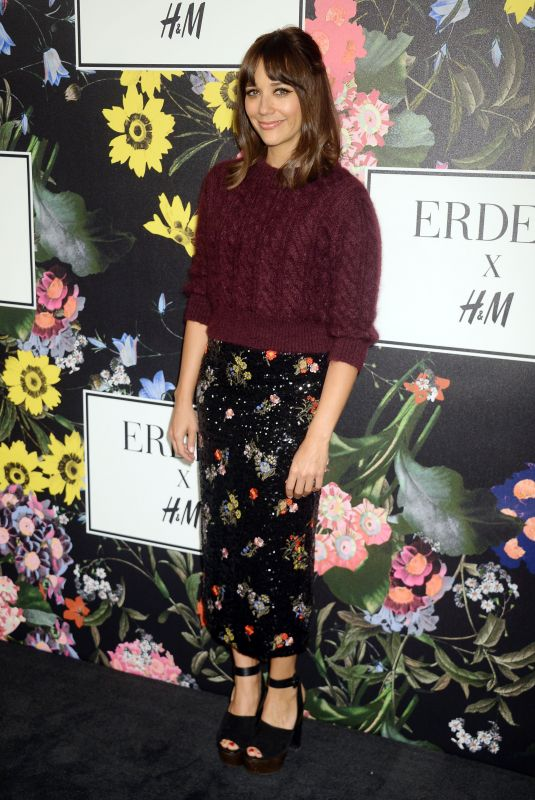 RASHIDA JONES at H&M x Erdem Runway Show & Party in Los Angeles 10/18/2017